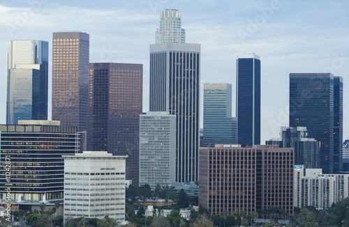 Fototapete - Daytime View of Los Angeles Skyline