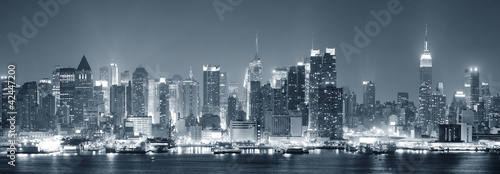 Fototapete New York City Manhattan black and white