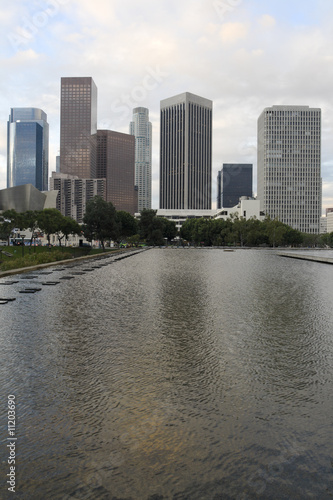 Fototapete - Los Angeles Skyline in Morning.