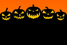 Fototapete - Black-orange Halloween background