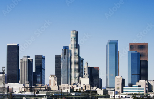 Fototapete - Los Angeles Skyline in Early Morning