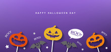 Fototapete - happy halloween day banner vector design 2019