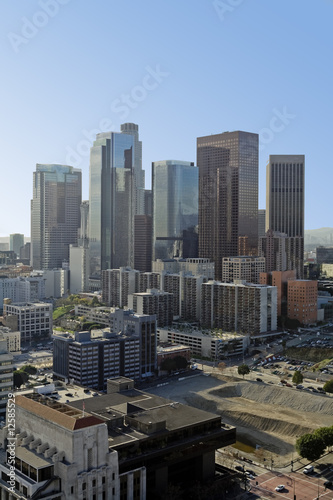 Fototapete - Los Angeles Skyline in Daytime