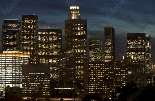 Fototapete - Los Angeles Skyline at Dusk