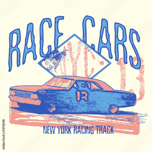 Fototapete - Race cars
